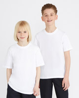 white Unisex Pure Cotton Crew Neck T-Shirts - Pack Of 2