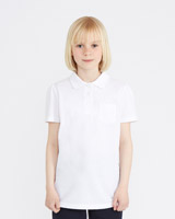 white Girls Fitted Polo Shirt - Pack Of 2