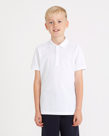 Boys Slim Fit Pique Polo - Pack Of 2