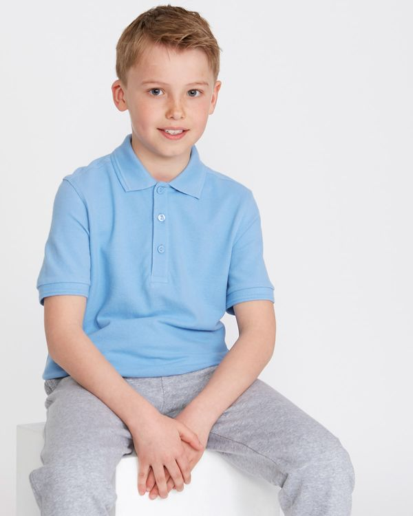 Boys Stain Release Short Sleeve Slim Polo Shirts - Pack Of 2
