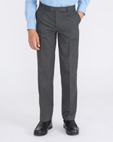 grey Rigid Waist Pleat Front Trousers