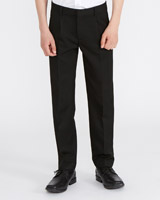 black Boys Pleat Front Trousers