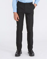 black Boys Slim Leg Trousers