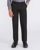 black Longer Length Rigid Waist Trousers