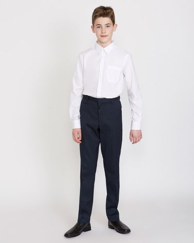 Boys Stretch Slim Leg Longer Length Trousers