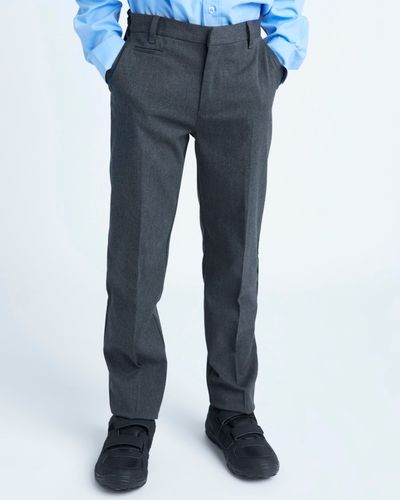 Longer Leg Stretch Slim Leg Trousers