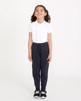 navy Girls Fleece Jogpants