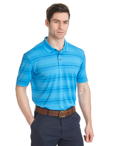 Pádraig Harrington Regular Fit Space Dye Stripe Polo (SPF 50)