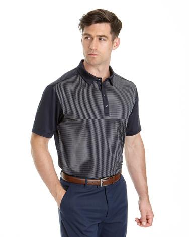 bluePádraig Harrington Skinny Stripe Polo (SPF 50)