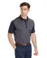 blue Pádraig Harrington Skinny Stripe Polo (SPF 50)