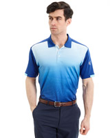 blue Pádraig Harrington Wave Print Polo (UPF 50)