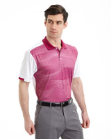 pink Pádraig Harrington Wave Print Polo