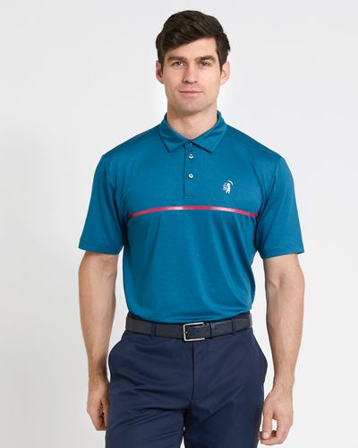 Pádraig Harrington Teal Embossed Print Polo (UPF 50)