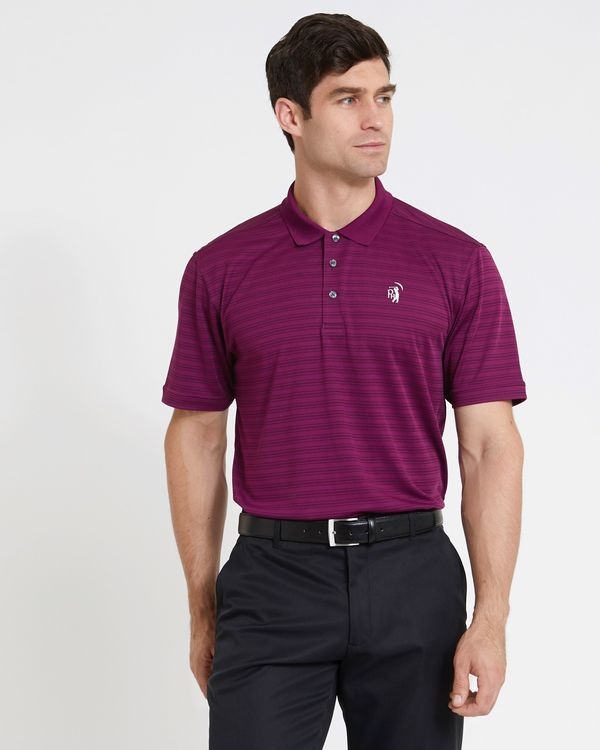 Pádraig Harrington Purple Jacquard Print Polo (UPF 50)