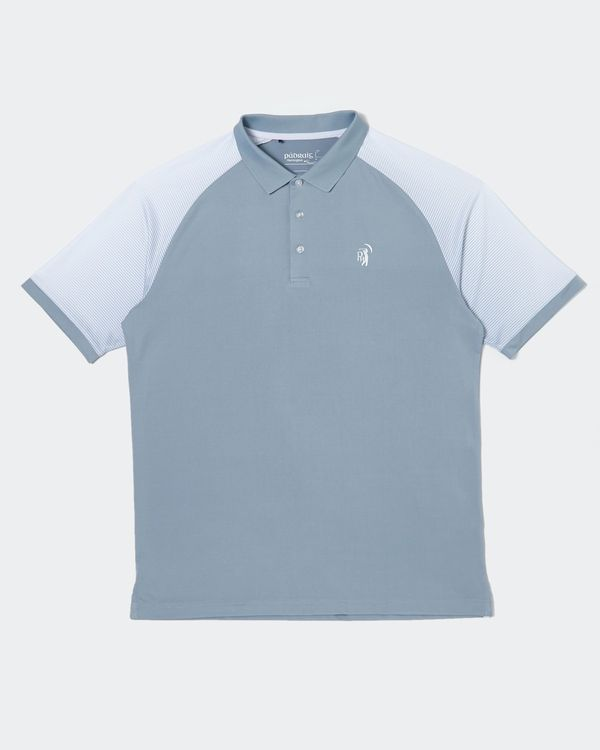 Pádraig Harrington Grey Raglan Sleeve Polo (UPF 50)