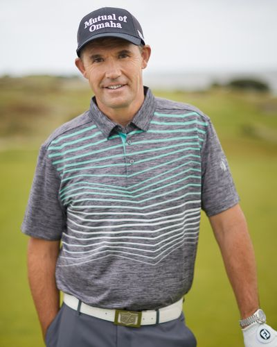 Pádraig Harrington Charcoal Contour Print Polo (UPF 50)