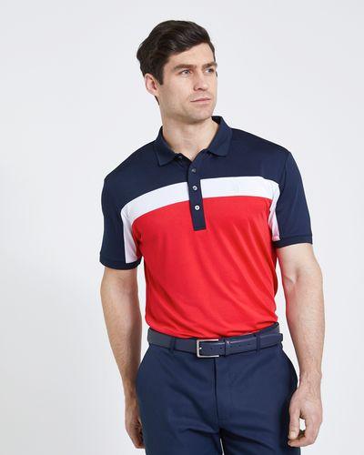 Pádraig Harrington Red Colour Block Polo Shirt (UPF 50)