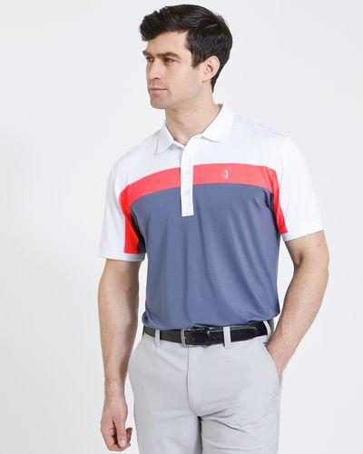 Pádraig Harrington Grey Colour Block Polo Shirt (UPF 50)