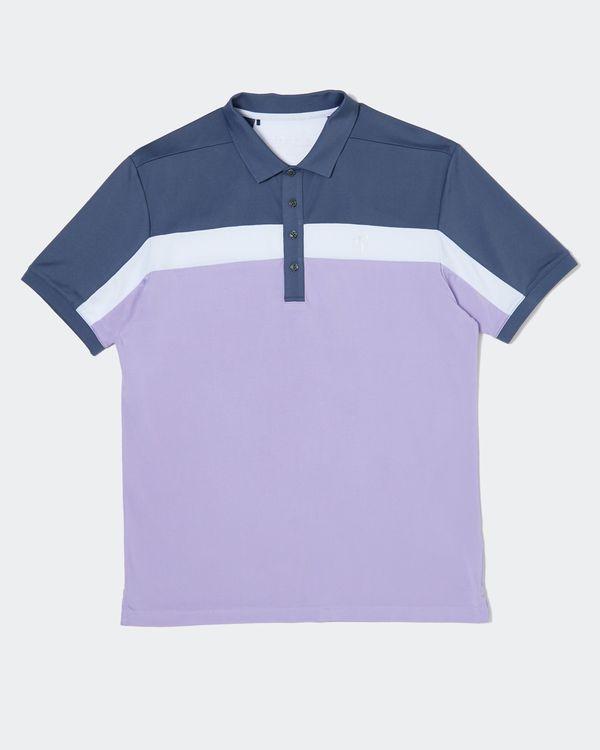 Pádraig Harrington Lilac Colour Block Polo (UPF 50)
