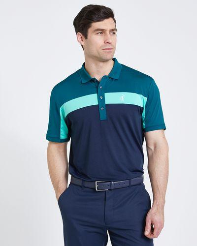 Pádraig Harrington Green Colour Block Polo Shirt (UPF 50)