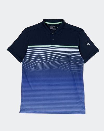 Pádraig Harrington Navy All Over Stripe Polo (UPF 50) thumbnail