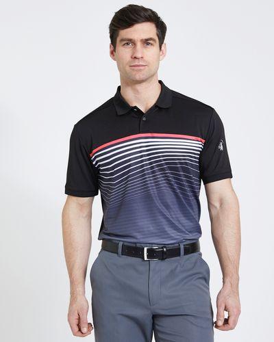 Pádraig Harrington Black All Over Stripe Polo (UPF 50)