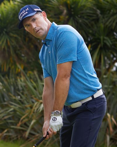Pádraig Harrington Blue Textured Polo Shirt (UPF 50)