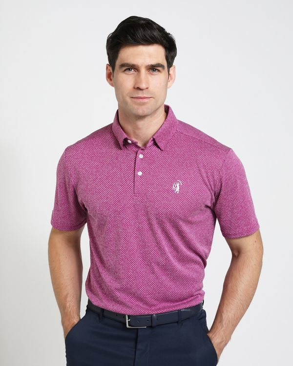 Pádraig Harrington Purple Textured Polo Shirt (UPF 50)