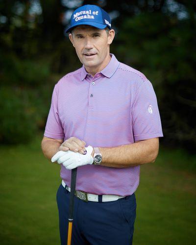 Pádraig Harrington Purple Micro Stripe Polo (UPF 50) thumbnail