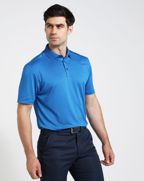 Pádraig Harrington Blue Micro Stripe Polo (UPF 50)
