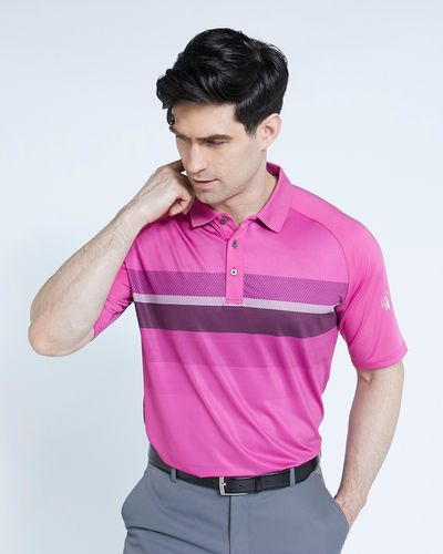 Pádraig Harrington Pink Ombre Polo Shirt (UPF 50)
