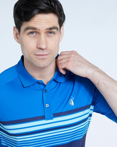 Pádraig Harrington Blue Chest Stripe Polo