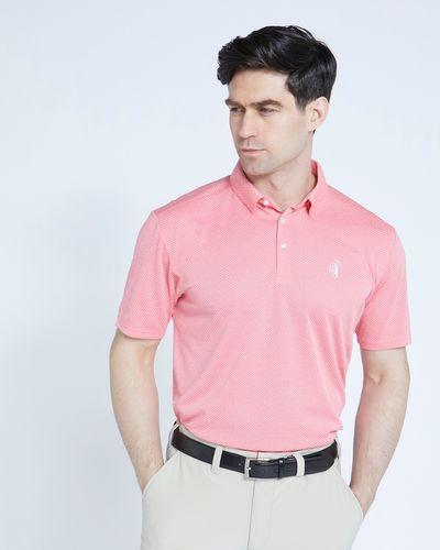 Pádraig Harrington Pink Textured Polo
