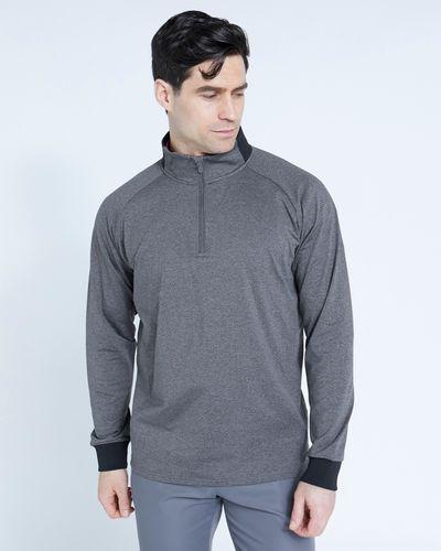 Pádraig Harrington Grey Long Sleeve Half Zip Top thumbnail