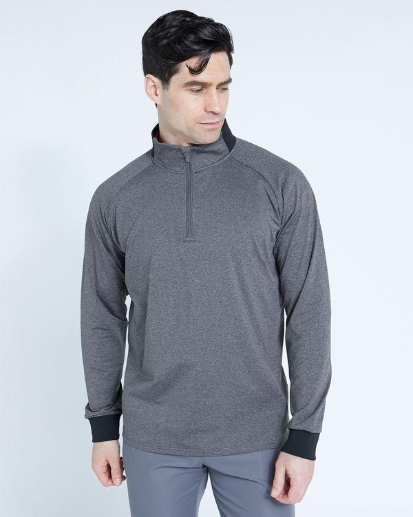 Pádraig Harrington Grey Long Sleeve Half Zip Top