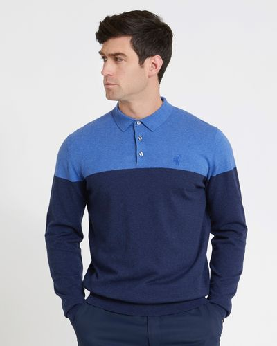 Pádraig Harrington Navy Colour Block Knit