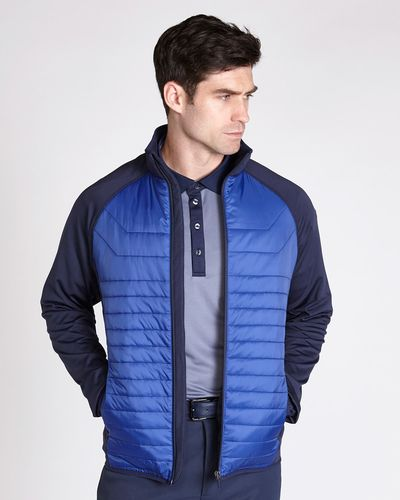 Pádraig Harrington Navy Colour Block Heatseeker Jacket