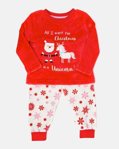 Baby Girls Christmas Fluffy Pyjamas