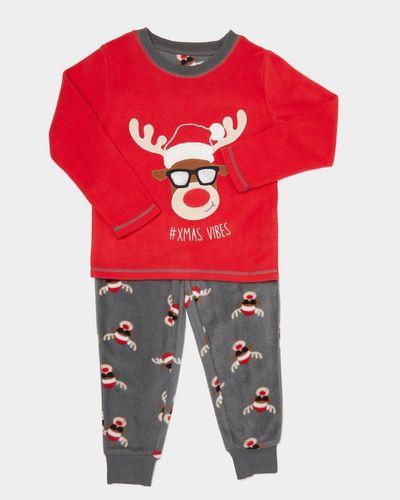 Kids Christmas Fleece Pyjamas (2-14 years) thumbnail