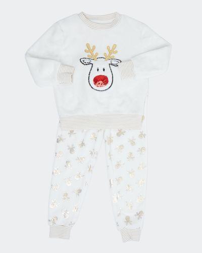 Reindeer Fluffy Pyjamas (2-14 years)