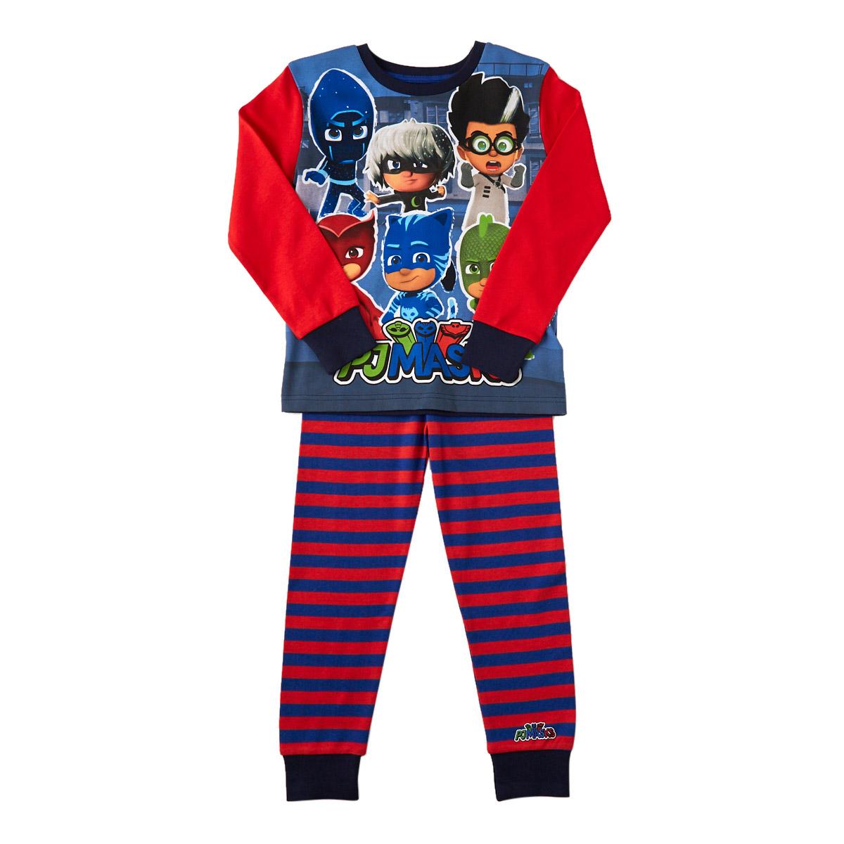 PJ Masks Little Boys Blue Character Print Slippers