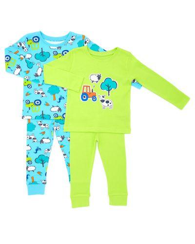 Baby Boys Farm Pyjamas - Pack Of 2 thumbnail