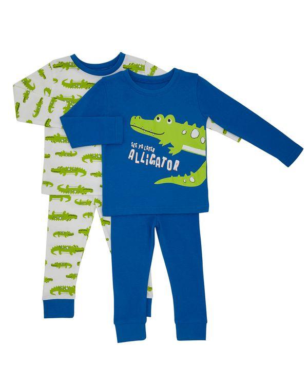 Baby Boys Crocodile Pyjamas - Pack Of 2