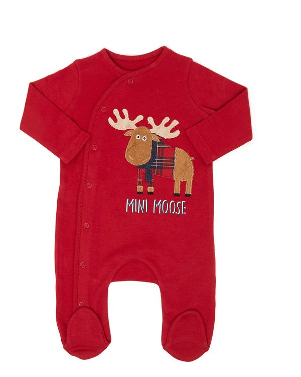 Christmas Family Moose Sleepsuit