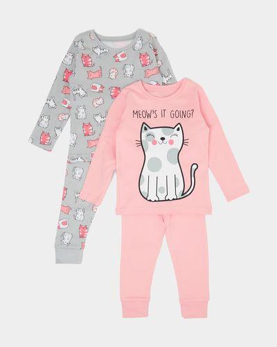 Baby Girls Pyjamas - Pack Of 2 (6 months - 4 years) thumbnail