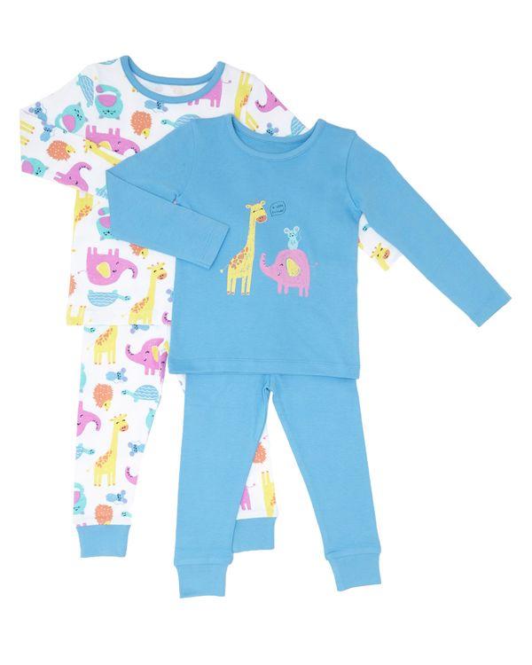Giraffe Pyjamas - Pack Of 2 (6 months-4 years)