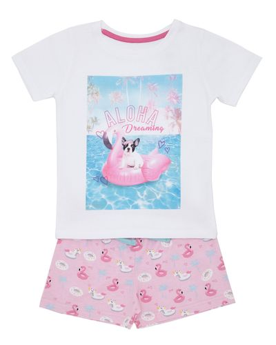 Jersey Short Pyjama Set - Pool