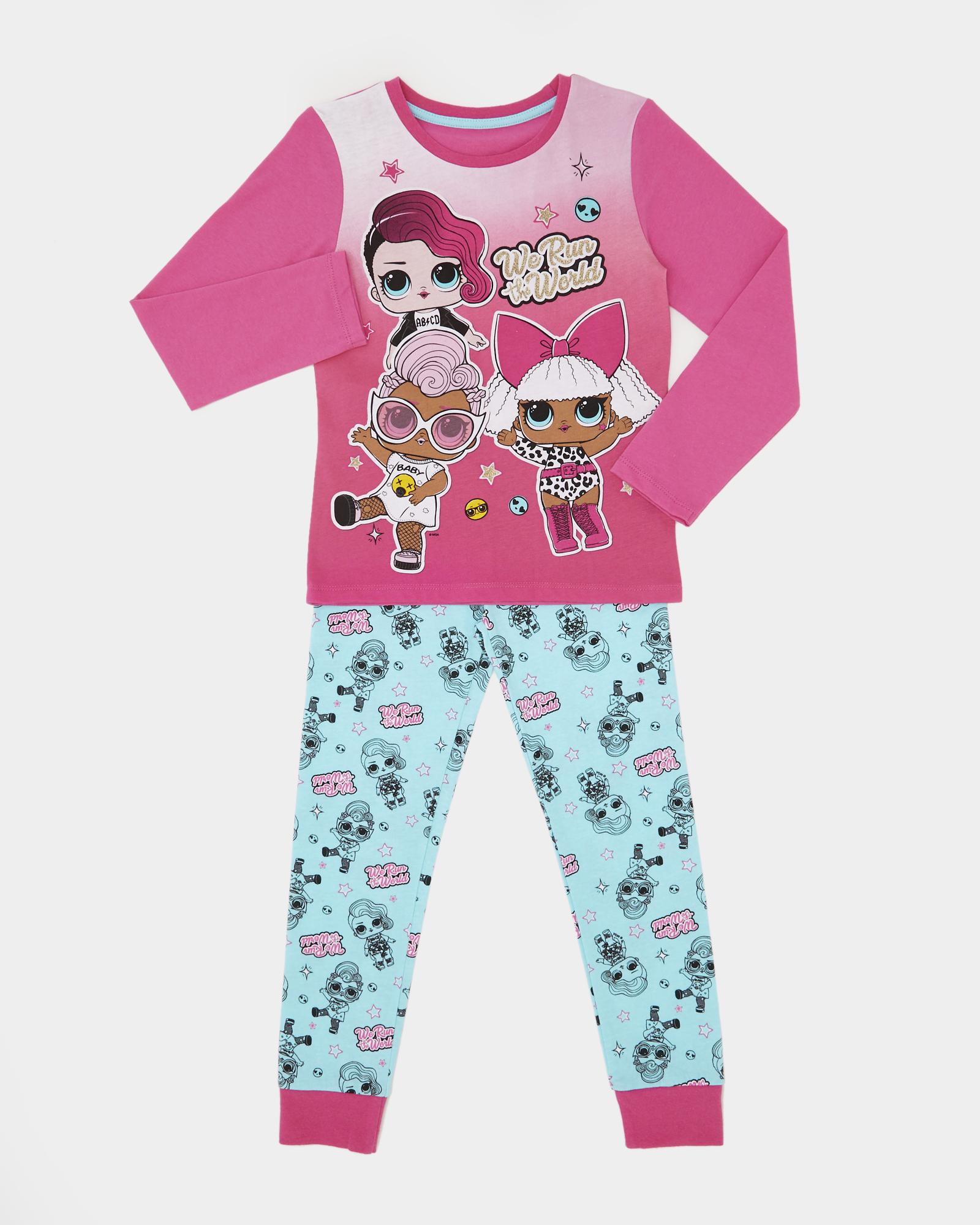 LOL Surprise Kids All in One Girls Childrens Sleepsuit Pyjamas We Run The World