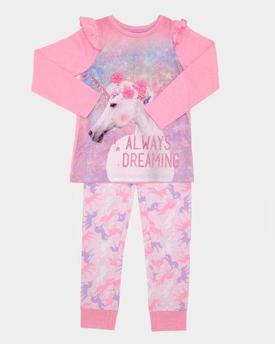 Unicorn Print Jersey Pyjamas