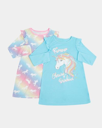 Long-Sleeved Nightdress - Pack Of 2 (2-14 years) thumbnail